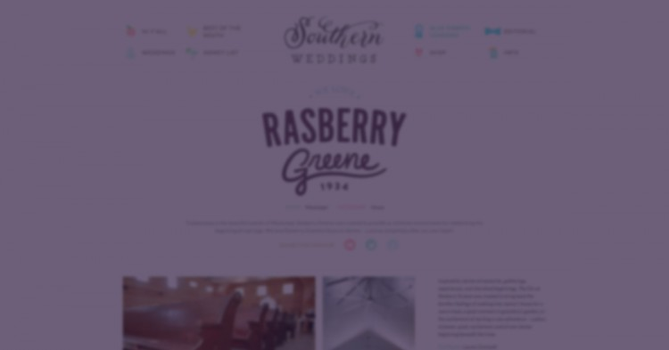 Rasberry Greene ♡'s Southern Weddings <br> <em>Mississippi Blue Ribbon Vendor</em>