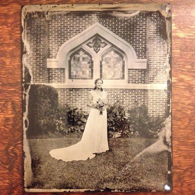 Tintype Bridal Portrait by Michael Foster Mississippi